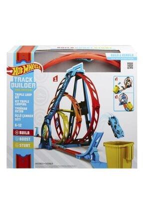 HOT WHEELS Hotwheels Track Builder Üçlü Çember Aksiyonu Seti Glc96