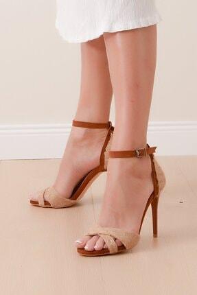 Shoes Time Kadın Bej Kavhe Topuklu Ayakkabı