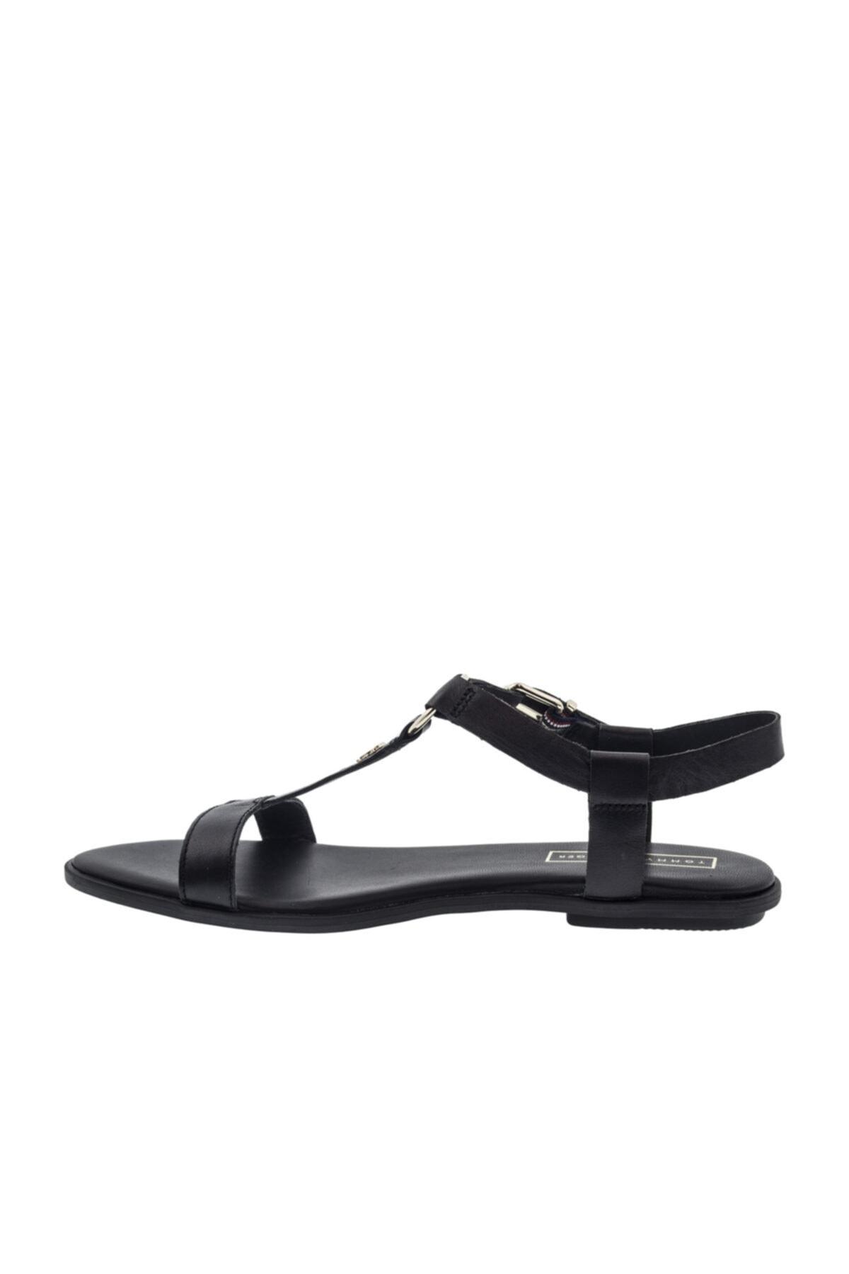 Tommy Hilfiger Kadın Siyah Düz Taban Sandalet (fw0fw0 2