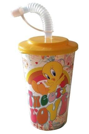 KaktüsKedi Pipetli Tweety Lisanlı Çocuk Bardağı 713498