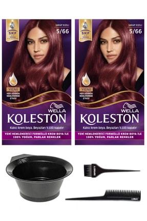 Wella 2'li Koleston 5/66 Kit Boya Şarap Kızılı Ve Saç Boyama Seti