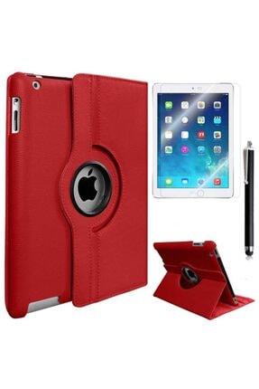 Mobilteam Apple Ipad 6 Air 2 Dönebilen Standlı Kılıf - Kırmızı