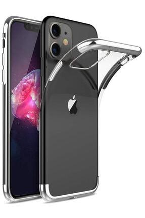 Apple Iphone 11 Kılıf Lazer Boyalı Renkli Esnek Silikon Şeffaf