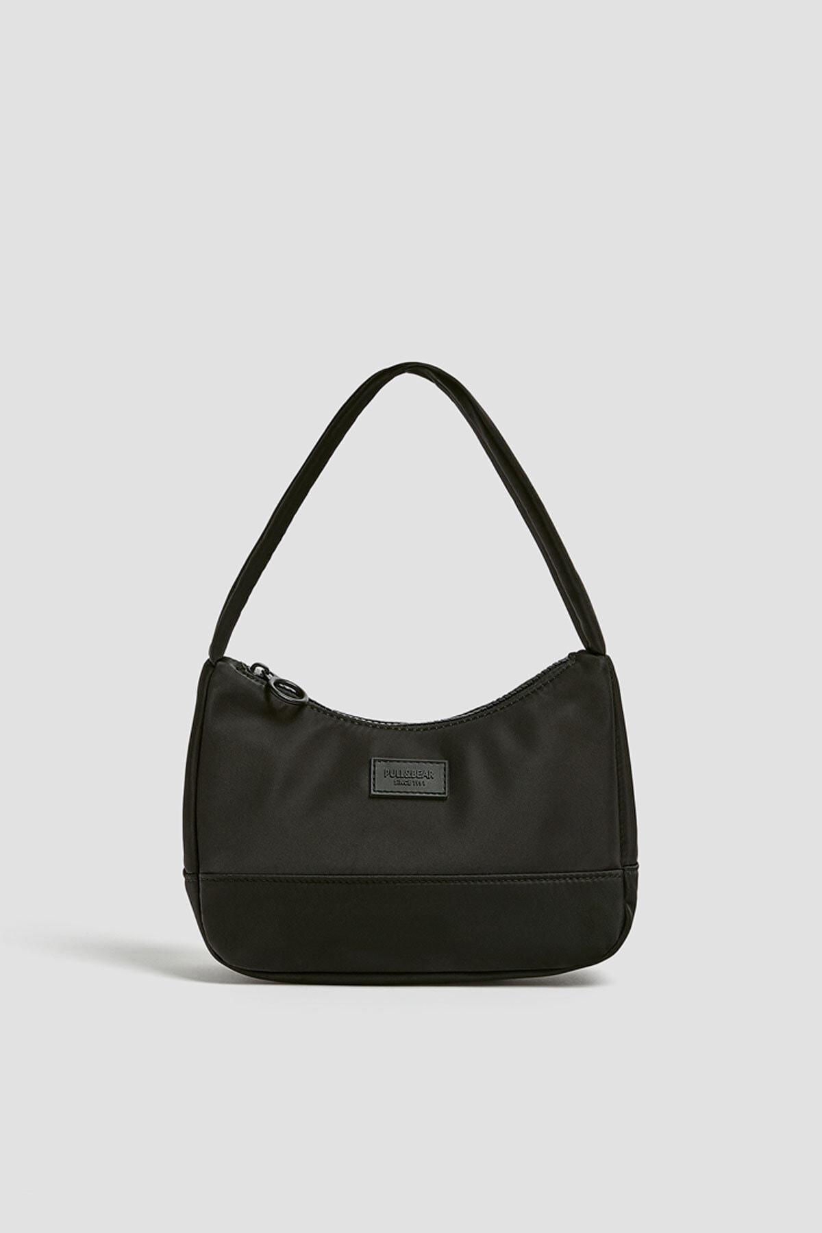 Pull & Bear Kadın Siyah Mini Baget Çanta 14019640