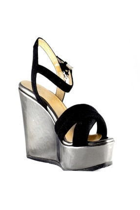 Cesare Paciotti Kadın Topuklu Sandalet Siyah Lam Fucile Sd2
