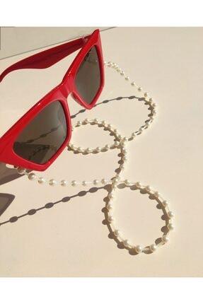 Sisyphos Design Kadın Inci Detaylı Gözlük Ve Güneş Gözlüğü Askısı Ipi Zinciri