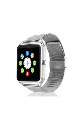 walberg Akıllı Saat Smart Watch Bluetooth Z60 Metal Kordonlu - Gümüş