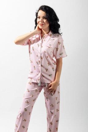 Katia&Bony Teddy Bear Düğmeli Kadın Pijama Takım - Mıx