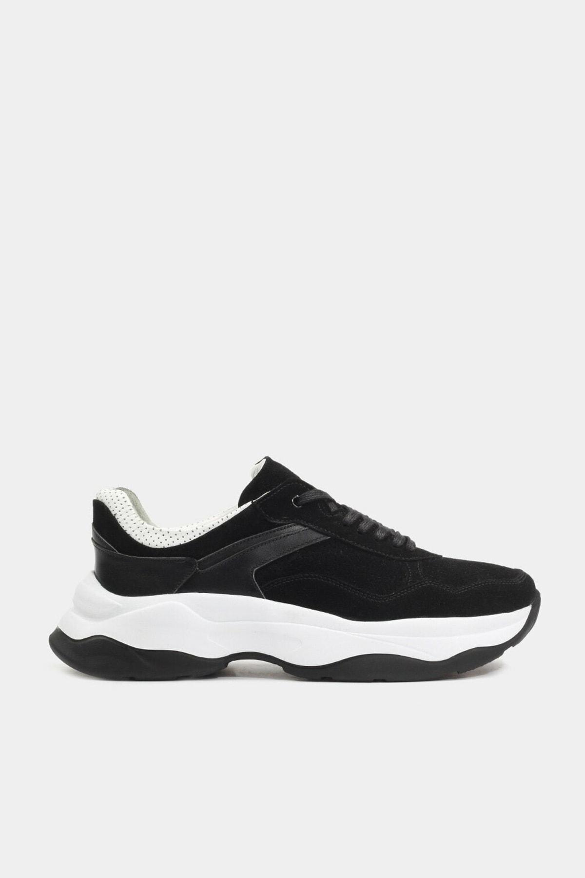 Hotiç Hakiki Deri Siyah Erkek Günlük Ayakkabı 1