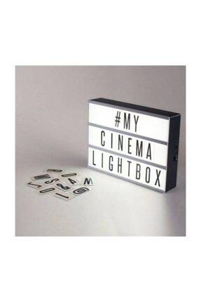 Patladı Gitti Lightbox A5 Led Işık  Işıklı Mesaj Panosu 60 Harf Light Box Pano