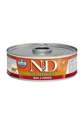N&D Balkabağı & Bıldırcın Kedi Konservesi 80 gr