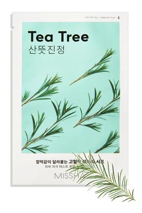 Missha Çay Ağacı Yağı Sivilce Karşıtı Yatıştırıcı Yaprak Maske (1ad) Airy Fit Sheet Mask Tea Tree