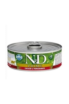 N&D Tahılsız Tavuk & Nar Kitten Kedi Konservesi 80 gr
