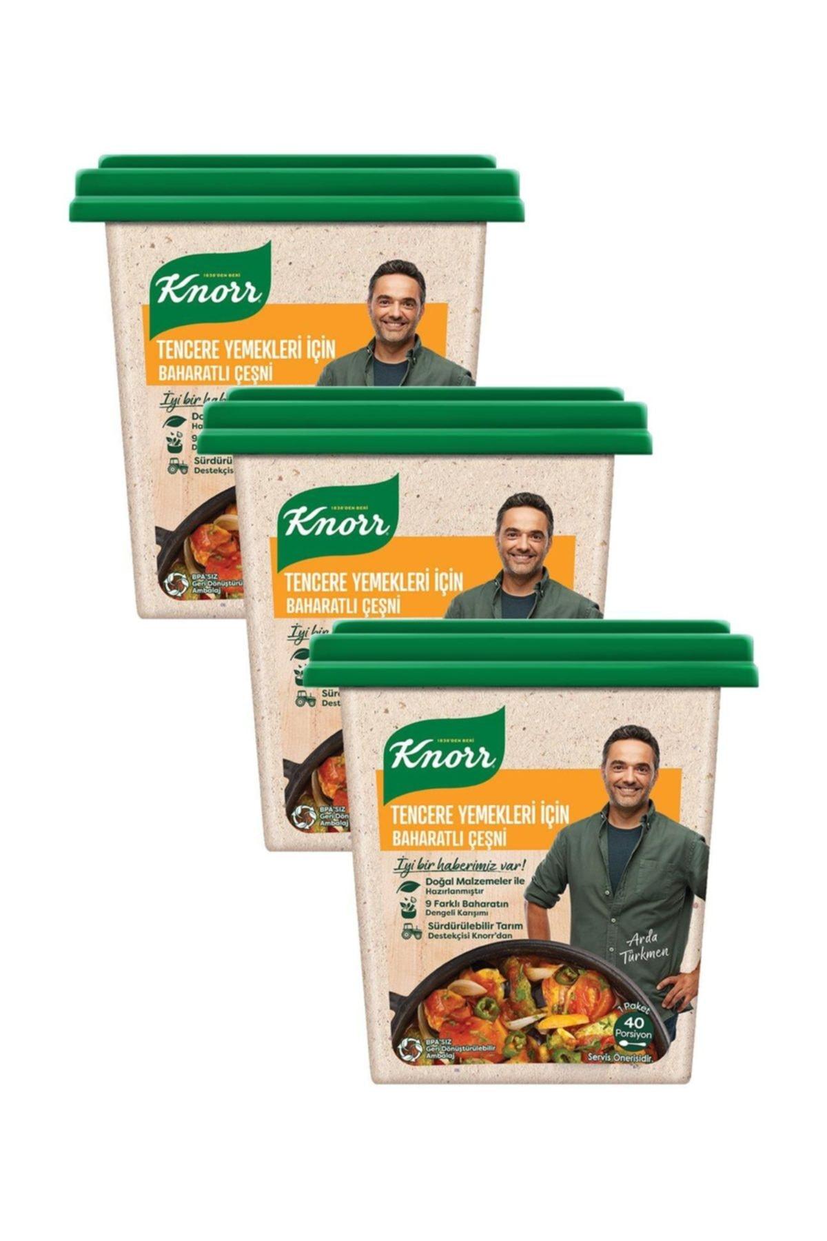 Knorr Tencere Yemekleri İçin Baharatlı Çeşni 135 G x 3 1
