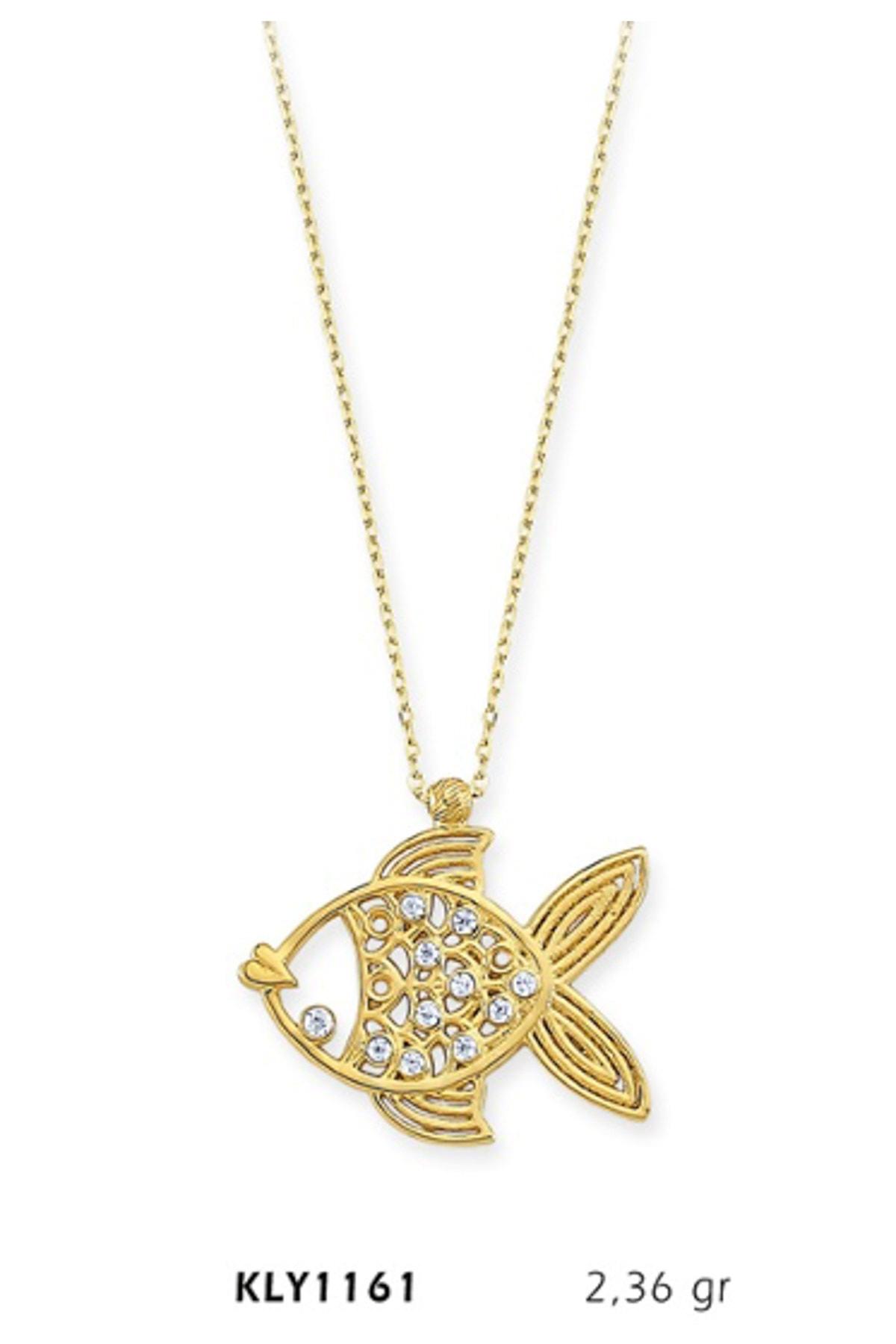 Harem Altın 14 Ayar Altın Balık Kolye KLY1161 1