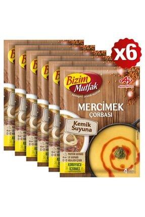 Bizim Mutfak Kemik Suyuna Mercimek Çorbası 72 Gr 6'Lı Paket