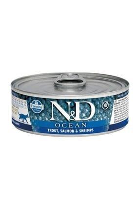 N&D Ocean Alabalık & Somon & Karides Kedi Konservesi 80 gr