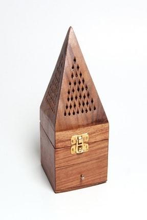 Mitr Prizma Şeklinde Hint Gül Ağacı Konik Tütsülük