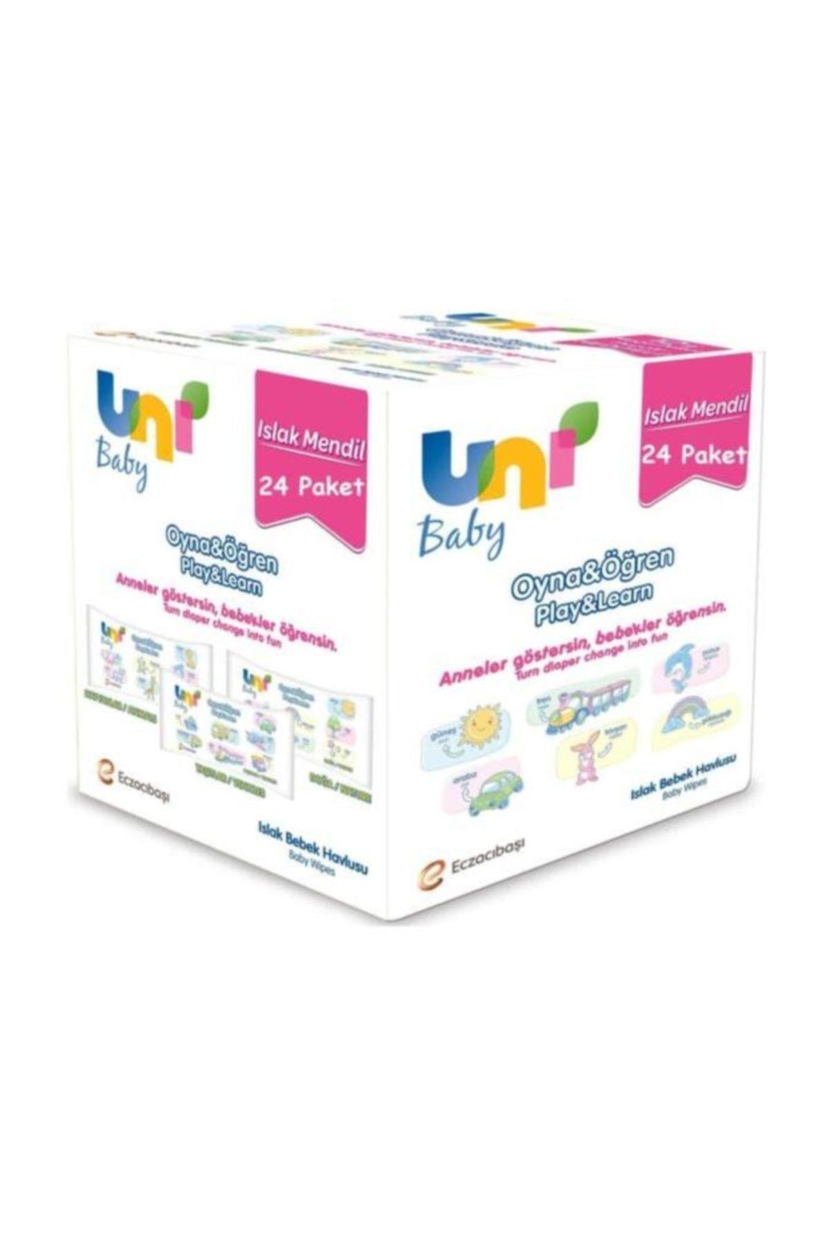 Uni Baby Oyna&Öğren Islak Mendil 24'lü Paket 1248 Yaprak 1