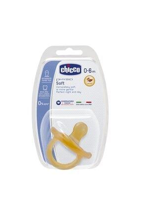 Chicco Physio Soft Kauçuk Emzik 0-6 Ay Tekli
