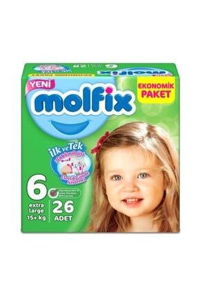 Molfix Ekonomik Paket 6 Numara 26 Adet Bebek Bezi 15+ kg