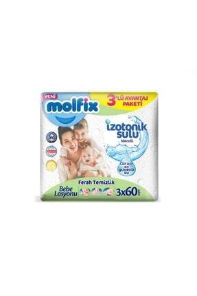 Molfix İzotonik Islak Havlu Ferah Temizlik 3'lü Paket 180 Yaprak