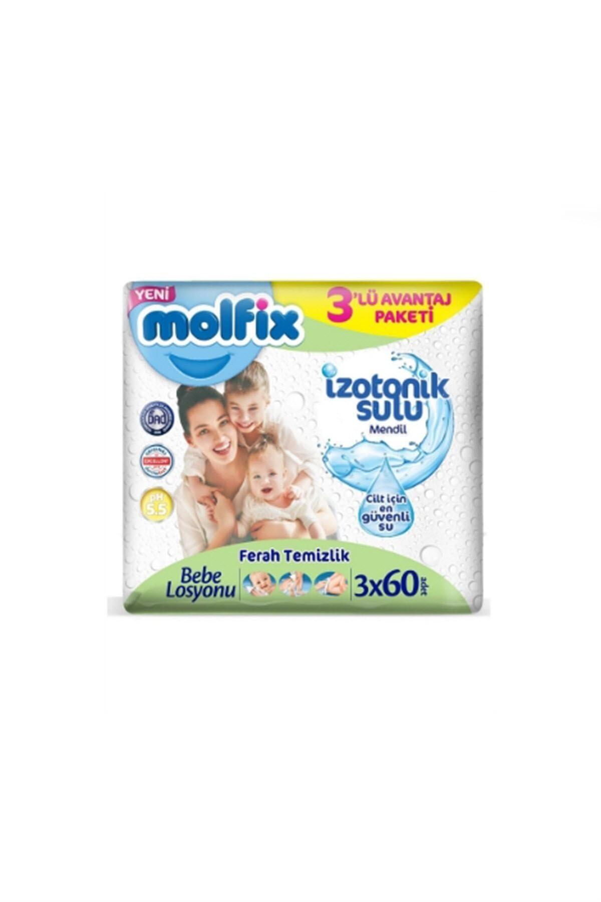 Molfix İzotonik Islak Havlu Ferah Temizlik 3'lü Paket 180 Yaprak 1