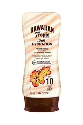 Hawaiian Tropic Koruyucu Güneş Losyonu - Lotion Silk Spf 10 180 ml 5099821001643