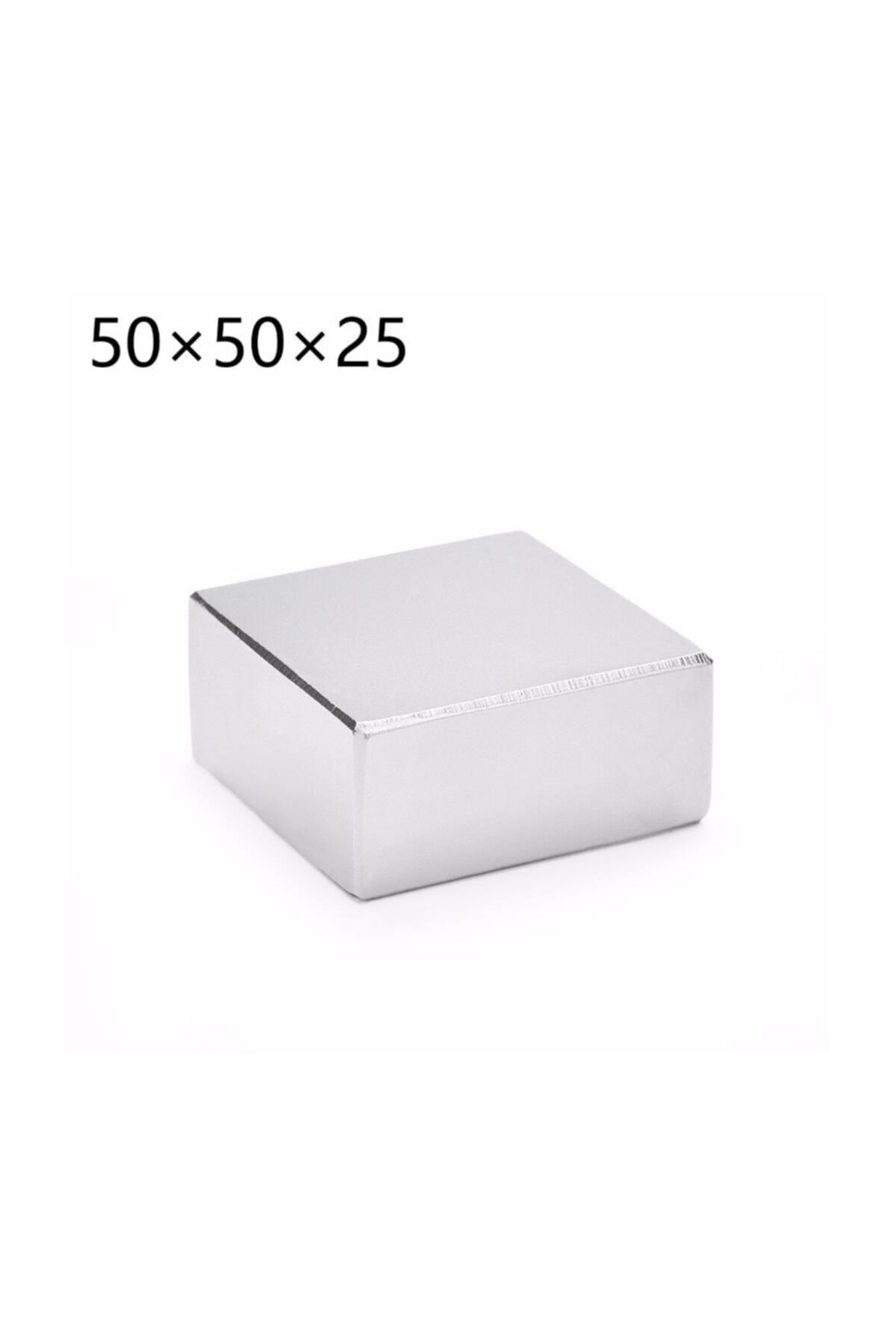 Dünya Magnet ÇOK GÜÇLÜ NEODYUM MIKNATIS, 50mm X 50mm X 25mm Büyük Mıknatıs 2