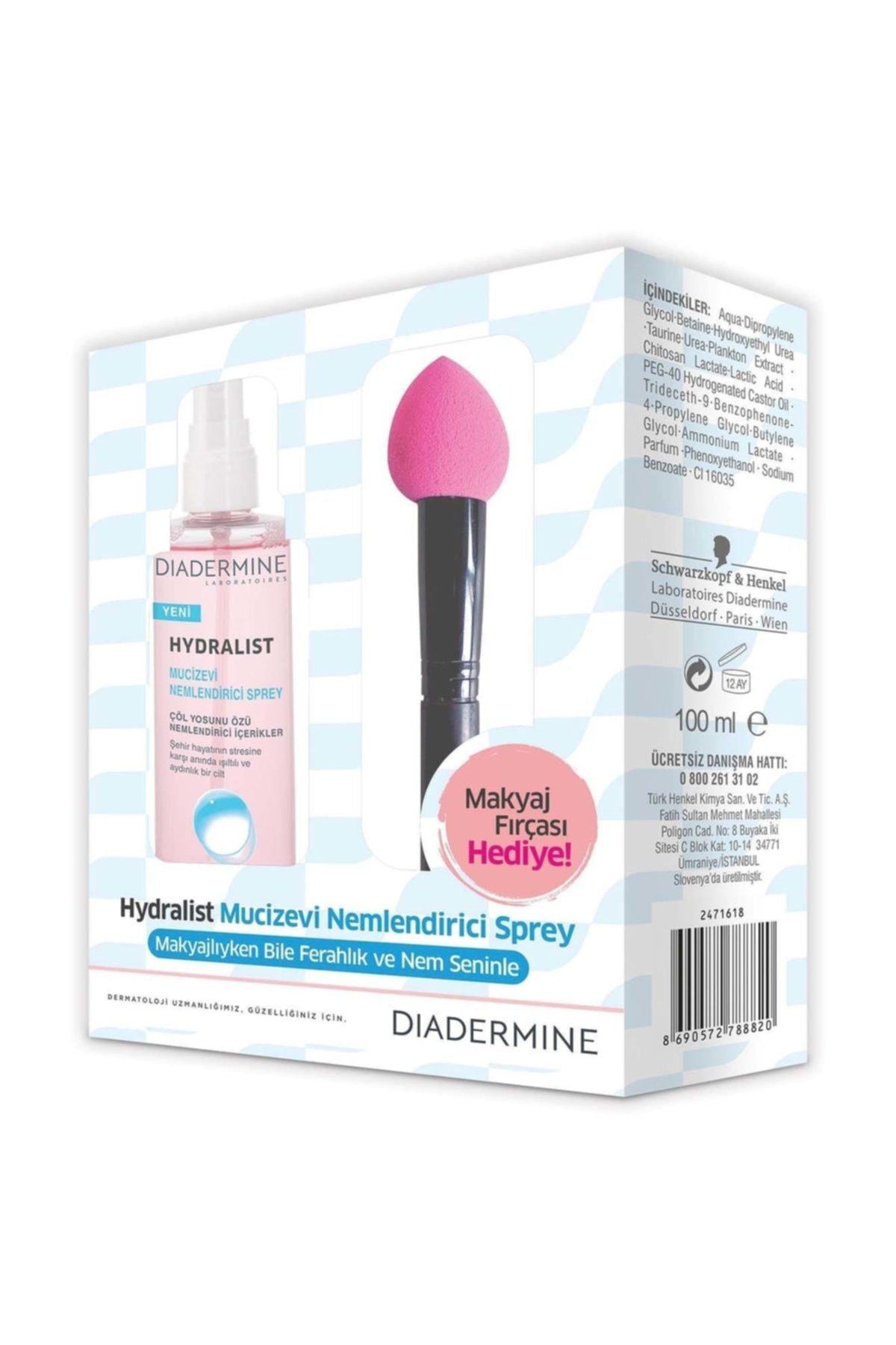 Diadermine Hydralist Nemlendirici Sprey 100 makyaj fırçası Hediyeli 1