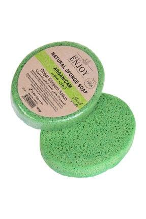 Enjoy Doğal Argan Çam El Yapımı Süngerli Vücut Duş Sabunu 125 gr