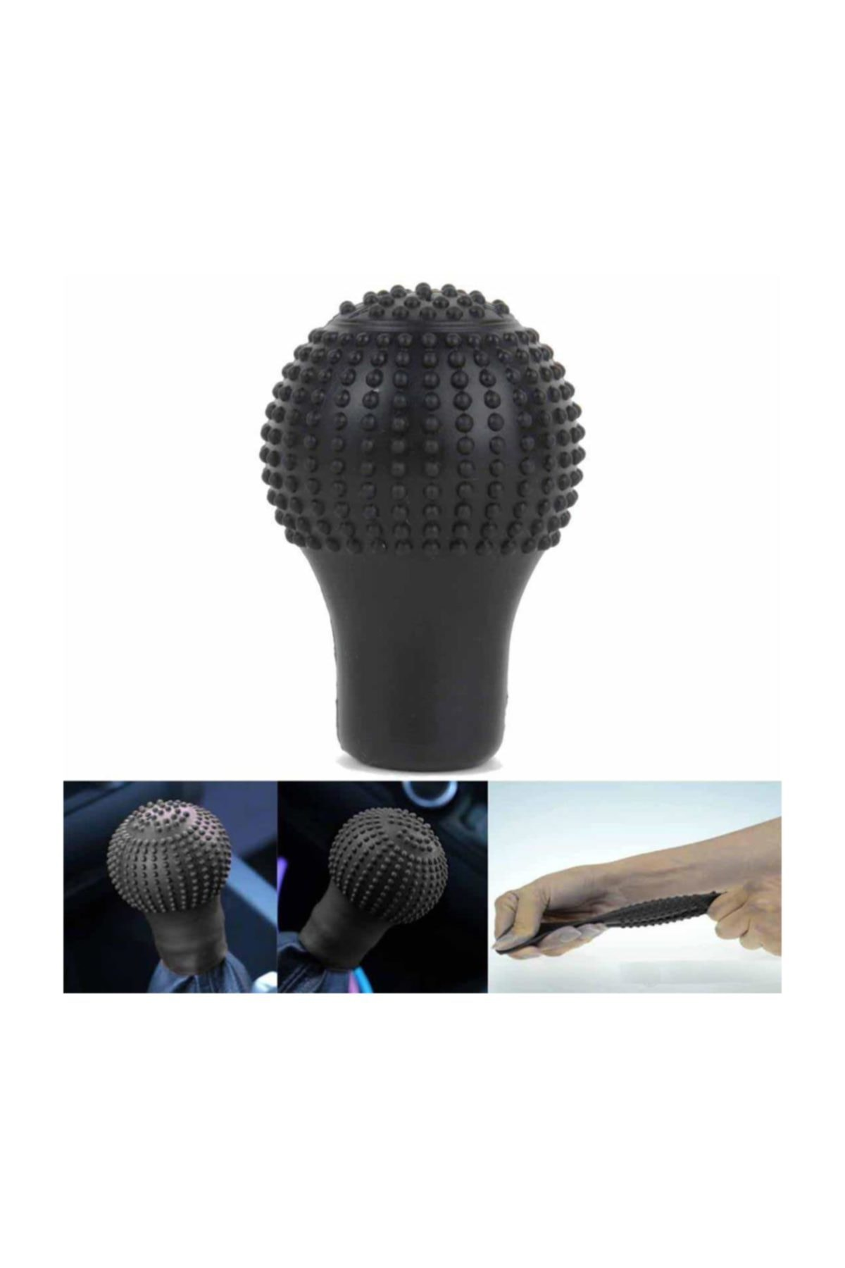 Tvet Siyah Silikon Esnek Her Araca Vites Topuzu Masajlı SK036043 1
