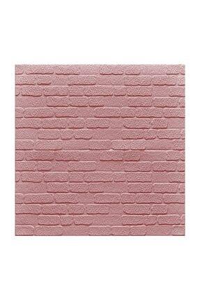 Renkli Duvarlar Nw31 Kendinden Yapışkanlı  Pembe Yeni Tuğla Kendinden Yapışkanlı Tuğla Esnek Duvar Paneli 70x77 cm