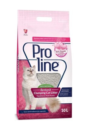 Pro Line Doğal Topaklanan Baby Powder Kokulu Kedi Kumu 10 lt