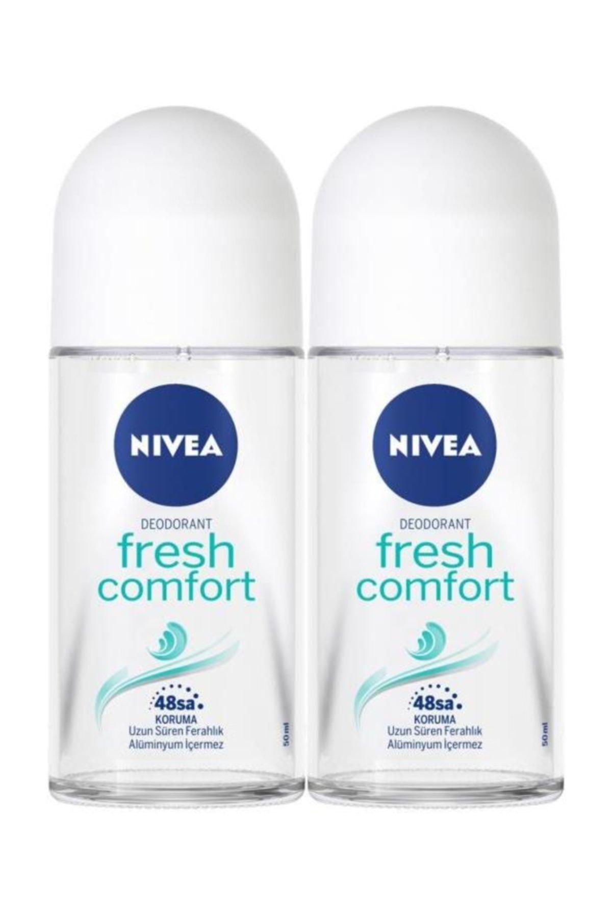Nivea Kadın Roll On Deodorant Fresh Comfort 50 ml  2'Li 1