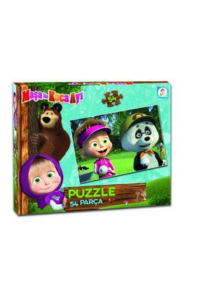 DIY Toys Masha Koca Ayı 54 Parça Çocuk Puzzle
