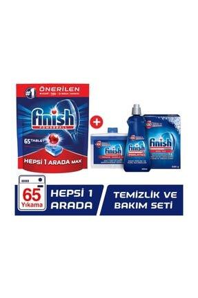 Finish Hepsi Bir Arada 65 Tablet Bulaşık Makinesi Deterjanı + Temizlik ve Bakım Seti