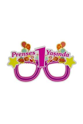 crv Pembe Prenses 1 Yaşında Karton Eva Maske 6 Adet