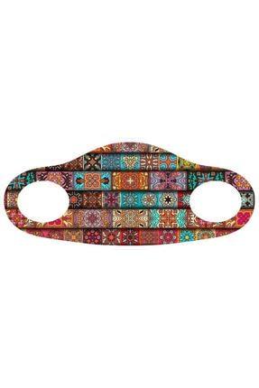 Noon Collection NN7020 Kadın Baskılı Maske