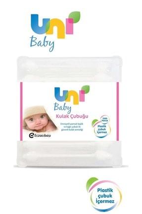 Uni Baby Bebekler İçin Emniyetli Kulak Temizleme Çubuğu 60 adet