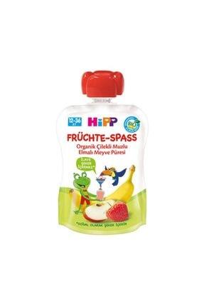 Hipp Organik Elmalı Muzlu Çilekli Meyveli Keyfi 90 gr