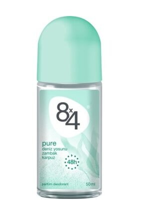 8x4 Pure Roll-On Deodorant 50Ml Kadın