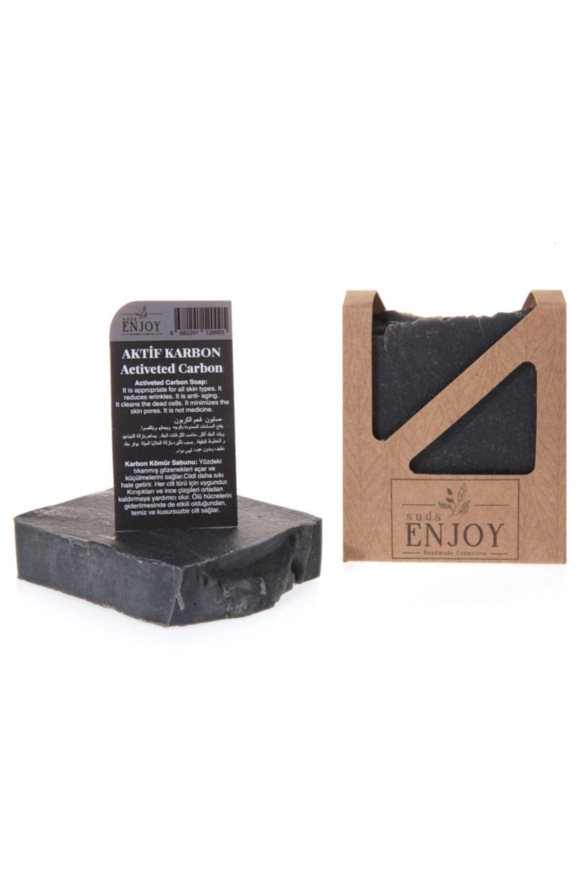 Enjoy Suds Enjoy Doğal Kömür El Yapımı Akne Karşıtı Sabun 100 gr 1