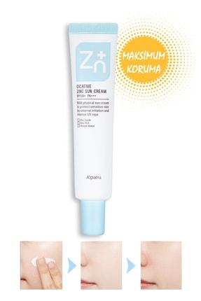 Missha Hassas Ciltler İçin Güneş Kremi - A'PIEU Cicative Zinc Sun Cream 40g 8809581444010
