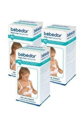 Bebedor Polietilen Dış Yüzeyli Göğüs Pedi 40 Lı 3 Paket