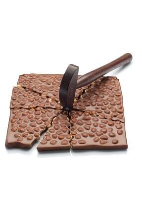 Elit Çikolata Tam Fındıklı Sütlü Tablet Beyoğlu Çikolatası Çekiçli Ahsap Kutu 600g