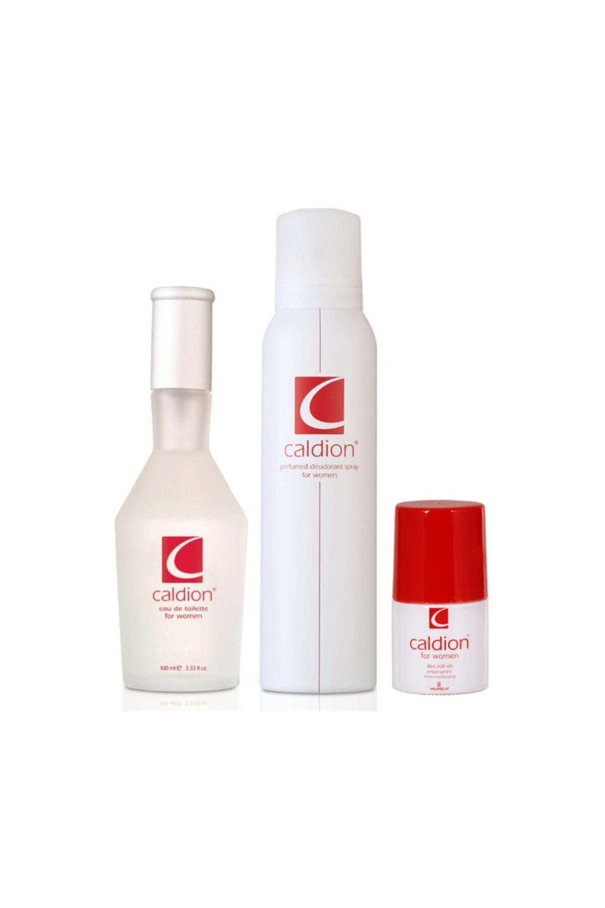 Caldion Edt 100 ml + 100 ml Vücut Spreyi + 50 ml Roll-on Kadın Parfüm Seti 86909735072802 1