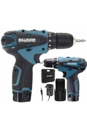 Bulldozer 20 Volt 3 Ah Darbesiz Çift Akülü Şarjlı Vidalama Matkap (BLUE) AR