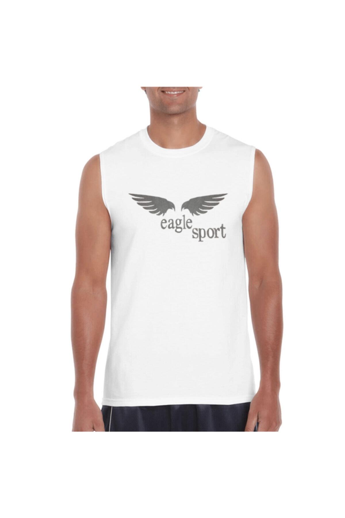 Eagle Erkek Beyaz Spor Antrenman Atlet 1