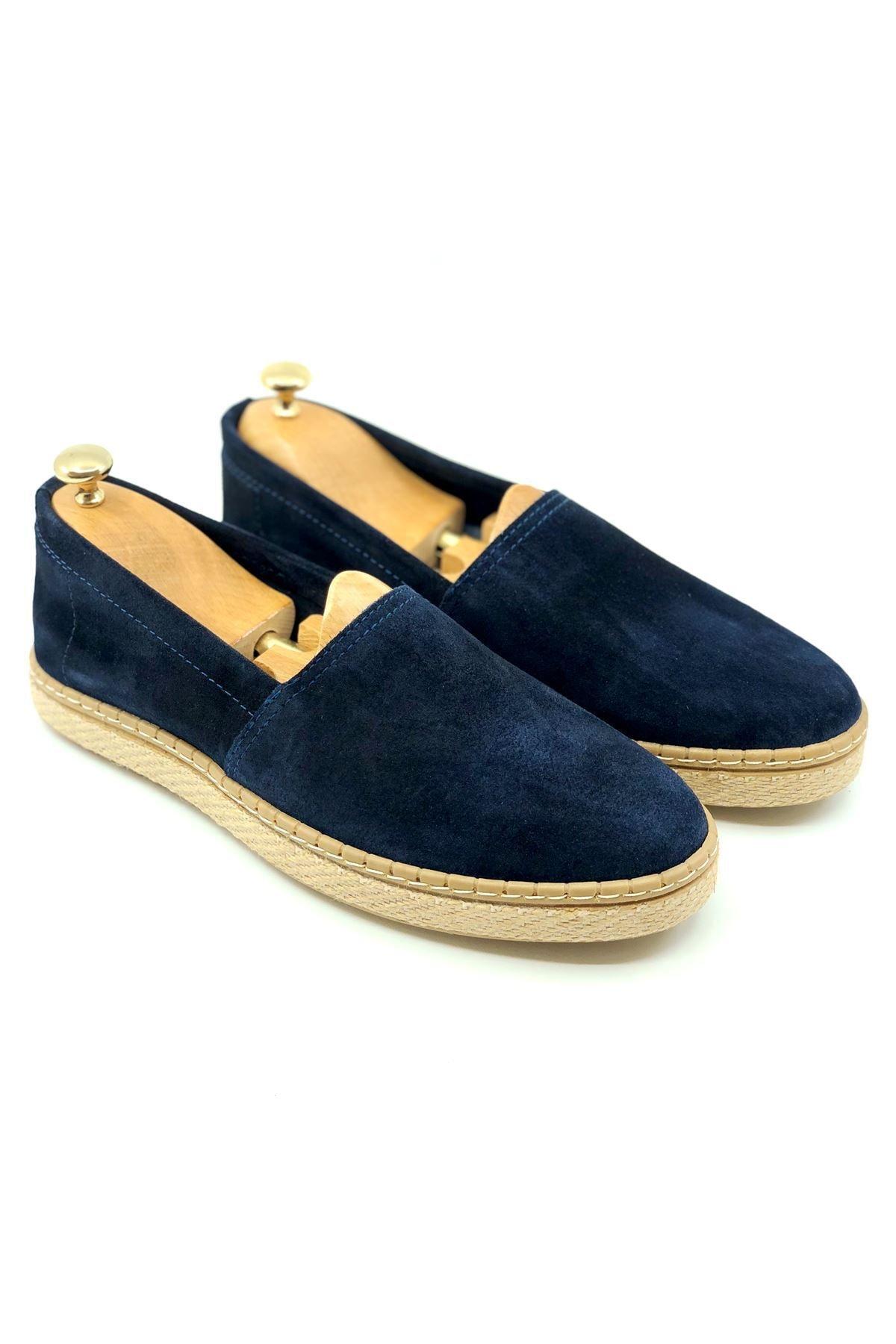 TETRİ Erkek Lacivert Hakiki Süet Yazlık Ayakkabı 1